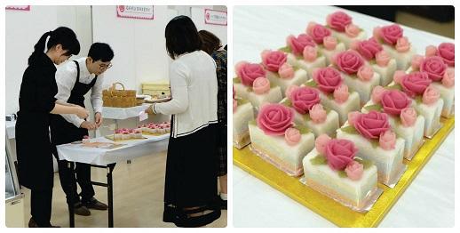 MOCHIMOCHIのあんこフラワー餅ケーキ