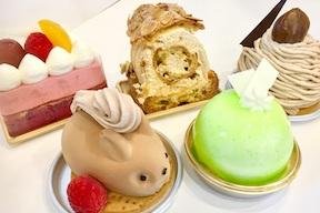 濃厚なプラリネクリームを使ったパリブレストは絶品!可愛いリスさんのケーキも人気。