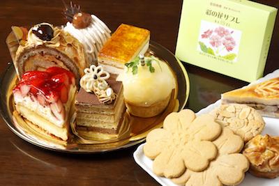 生ケーキ各種。彩の花サブレ(3枚入)。焼き菓子各種。
