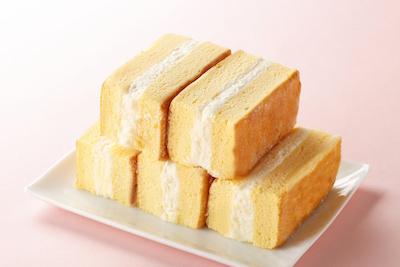 ご家族連れにも人気の天使のおやつ180円。甘さ控えめ冷たく冷やして召し上がれ。