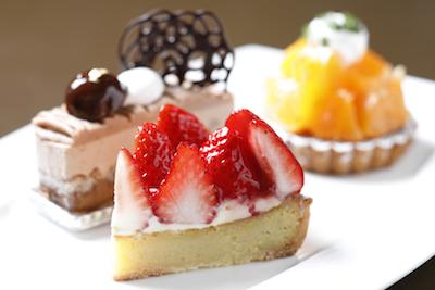テレビでも紹介された、美園いちごランドの朝摘みイチゴを使ったタルトは季節限定518円。