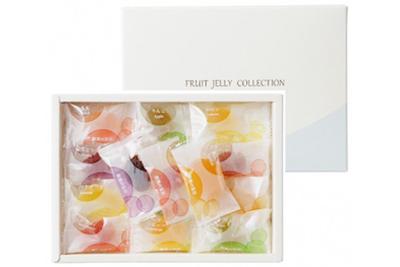 フルーツゼリーコレクション(15種類25個)1,080円。